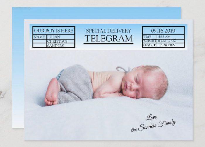 Veste, kako sestaviti telegram ob rojstvu otroka